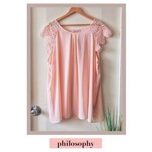 Soft Lace Pink Blush Blouse